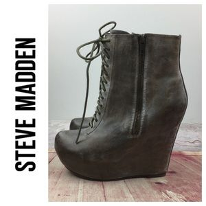 💸STEVEN by Steve Madden Maddox wedge booties
